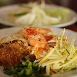 ผัดไทยวุ้นเส้นกุ้ง อาหารแนะนำ วุ้นเส้นเหนียวนุ่มรสกลมกล่อม