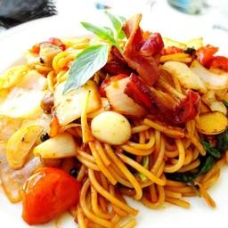 สปาเก็ตตี้ปลาเค็ม สำหรับคนชอบอาหารฝรั่งรสชาติไทยๆ เข้มข้น
