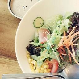 สลัดผัก+น้ำสลัดสไตล์ญี่ปุ่น