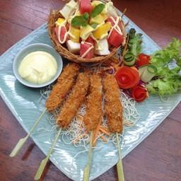 Fried Shrimp  Fruit Salad