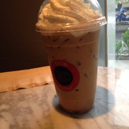 Iced englisg toffee latte
