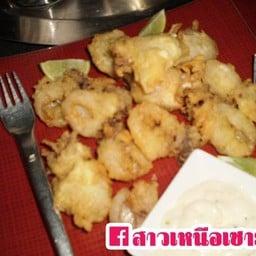 ปลาหมึกชุบแป้งทอดกระเทียมพริกไทย