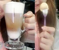 รสตรงใจ กาแฟ+นมสดเท่านั้น ไม่ใส่น้ำเชื่อม ไม่ใส่นมข้นหวาน ไม่ใส่ครีมเทียม อิอิ