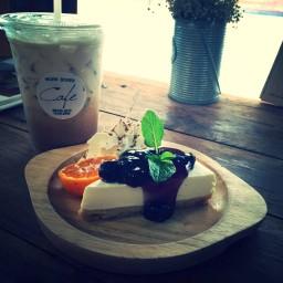Caramel Latte&Blueberry Cheese Pie