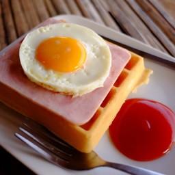 วาฟเฟิลแฮมไข่