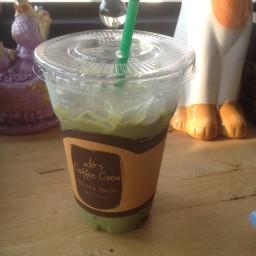 กาแฟเย็นกรีนทีชิโน่(50฿)