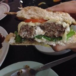 Extra beef burger