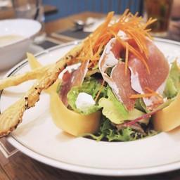 salade melon chèvre jambon