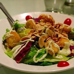 Green Salad with Calamari and Shrimp