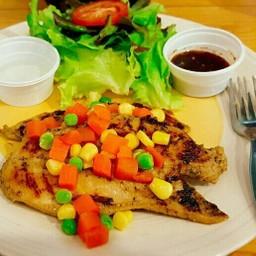 เซตสเต็กเพื่อสุขภาพ - สเต็กไก่พริกไทยดำ