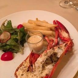 Half Grilled Canadian Lobster