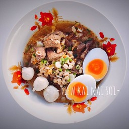 เมนูของร้าน เตี๋ยวไข่ ในซอย ยะลา