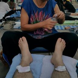 นวดเท้าจ้า เช็ดเท้าด้วยแอล. เย็นๆ