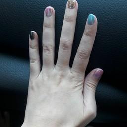 มือนี่ทำสีเหมือนลูกกวาดเลยค่ะ