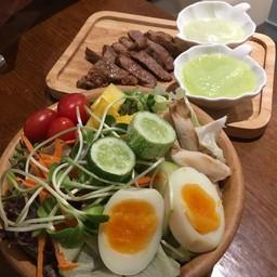 Aura Salad + Grilled Pork