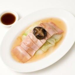 ผักกาดขาวน้ำแดงหมูแฮม