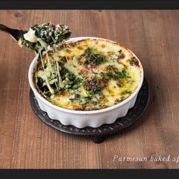 Parmesan Baked Spinash