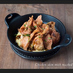 Chicken Skin With Mashed Potato