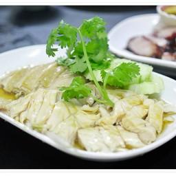 ไก่ต้มจานกลาง : 170B ชอบไก่ต้มเขาไก่นิ่มดี น้ำจิ้มก็อร่อย