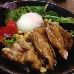ข้าวหน้าไก่ + ไข่