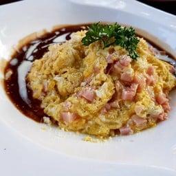 ข้าวไข่ข้นแฮมชีส