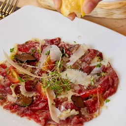 """Beef """"Carpaccio"""" with Truffle, Celery and Parmesan Flakes##1"""