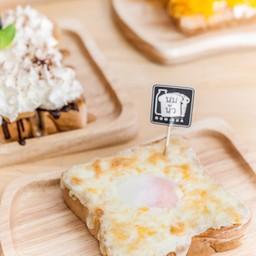 ขนมปังปิ้งชีสไข่ลาวา##1