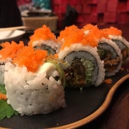 Sake Kawa Maki โรลหนังปลาแซลมอน