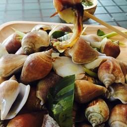 หอยชักตีนนึ่งสมุนไพร