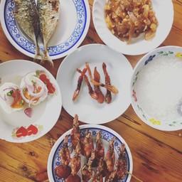 ข้าวต้มปลา ตลาดปากน้ำปราณ