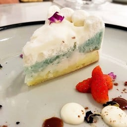 Coconut Butterfly Pea Cake