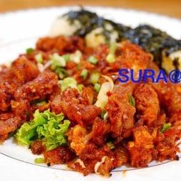 ไก่ย่างถ่านผัดซอสเผ็ดเกาหลี##1