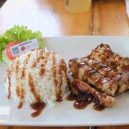ข้าวไก่เทอริยากิ ซอสวาซาบิ