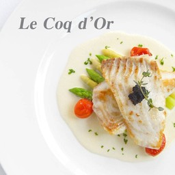 Roasted Turbot with Champagne Sauce & White Asparagus