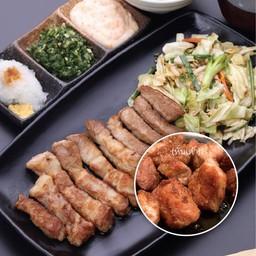 ชุดสเต็กหมูคุโรบุตะ (หั่นเต๋า)