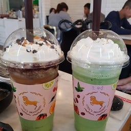 ชาเขียวเจลลี่กาแฟ+ชาเขียวพานาคอตต้า