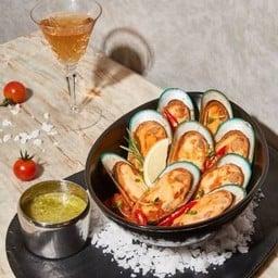 หอยเเมลงภู่นิวซีเเลนด์ ผัดกับซอสมะเขือเทศรสจัด