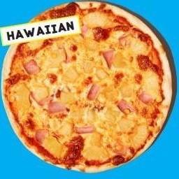 Hawaiianซอสมะเขือเทศ ชีส ข้าวโพด แฮม สับปะรด