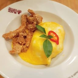 ข้าวผัดเขียวหวานไข่ข้นหมูเส้นกรอบ##1