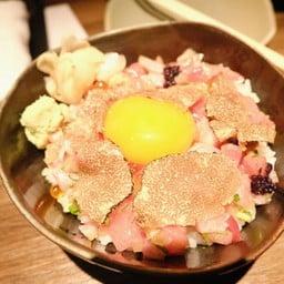 Negi toro with fresh black truffle + Miso soup