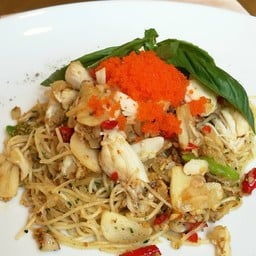 Spicy Angel Hair Pasta with Crab