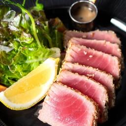 Albacore Seared Tuna in Anchovies Sauce and Wild Salad