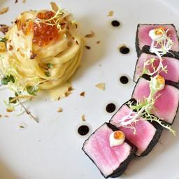 สไตล์ญี่ปุ่น หอมกลิ่นปลาโอ กลมกล่อมกับซอสครีมมิโซะ