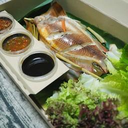 เมนูของร้าน เมอร์-แชนท์ ปลานึ่งสมุนไพร Delivery
