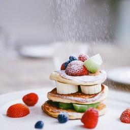 Mixed Fresh Fruit Pancake
