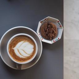 Eggnog Latte With Cookies