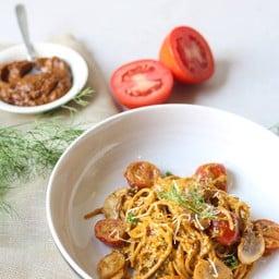 Spaghetti Red Pesto