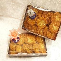 คุกกี้ปีใหม่กล่องสี่เหลี่ยมฐานน้ำตาล (กล่องเล็ก)