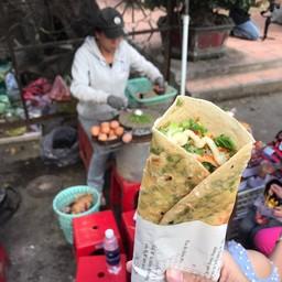 Banh trang nuong (หน้าวัดมังกร)