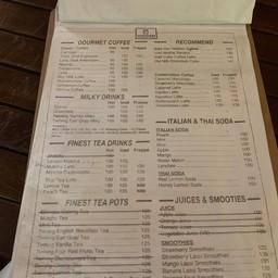 เมนู Hor Hidden Cafe